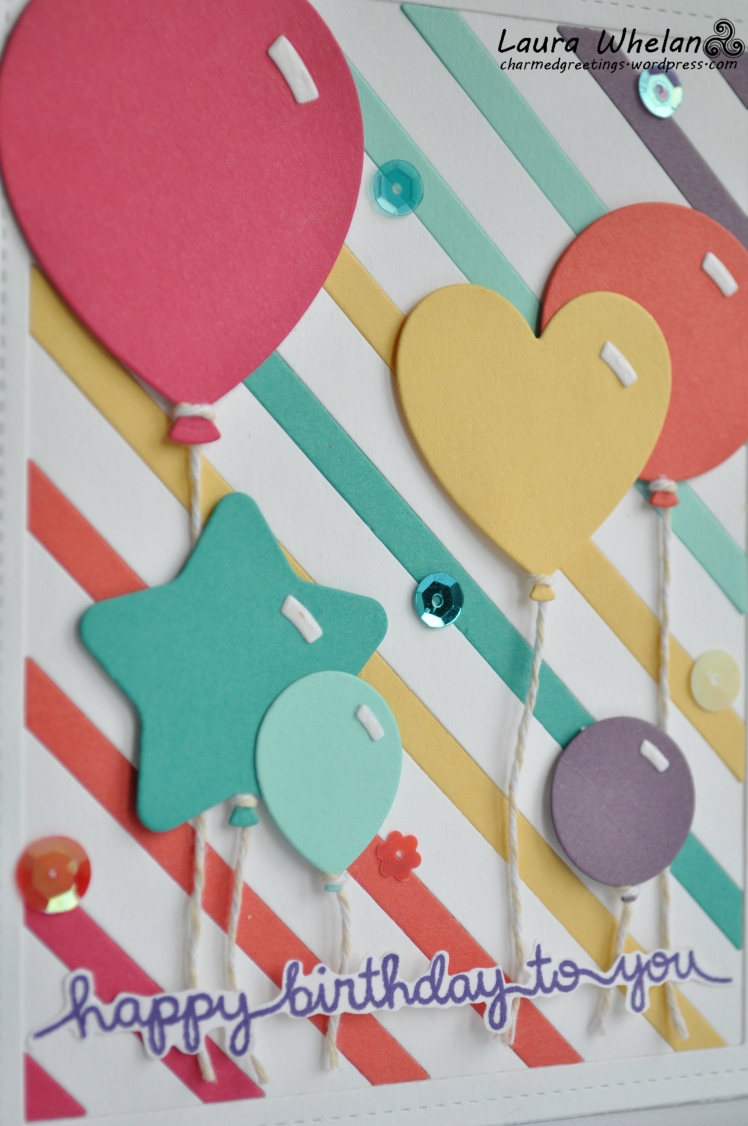 Rainbow Balloons detail front