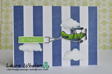 Vintage airplane baby boy shower thank you card gift set using Avery Elle, Altenew, & Concord&9th stamps.