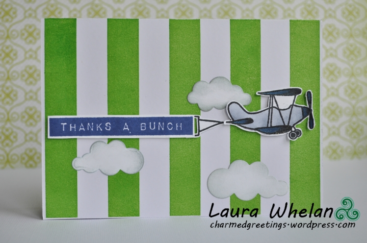 Vintage Plane Card Set green