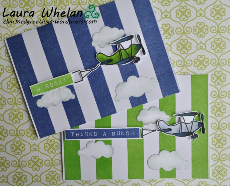 Vintage Plane Card Set greenandblue