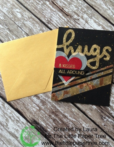Handmade Cards using Concord & 9th Cuddles and Hugs Stamp and Nuvo Gilding Flakes.