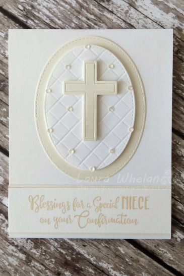 Handmade, delicate & feminine, Confirmation Card made by Charmed Greetings. Can be used for Furt Holy Communion or Christening.